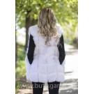 Fake fur vest - white