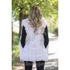 Fake fur vest - white