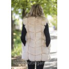Fake fur vest - LIGHT BEIGE
