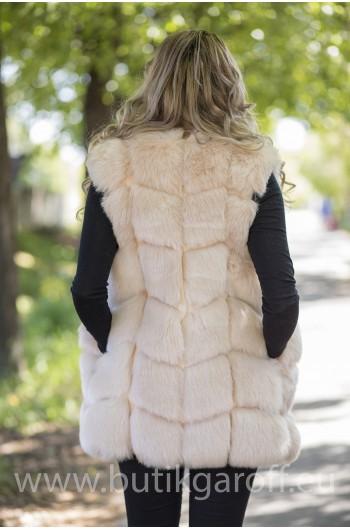 Fake fur vest - LIGHT BEIGE