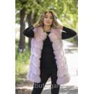 Fake fur vest - LIGHT PINK