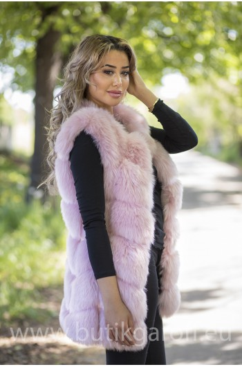 Fake fur vest - LIGHT PINK