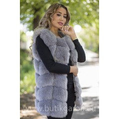 Fake fur vest - LIGHT GREY