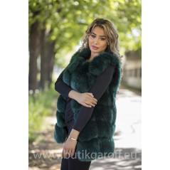 Fake fur vest - GREEN