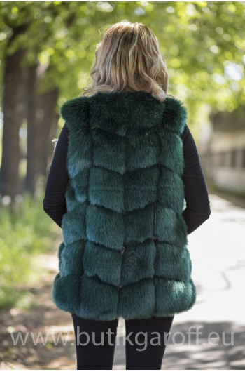 Fake fur vest - GREEN