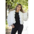 FAKE FUR 5 RINGS JACKET - WHITE