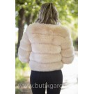 FAKE FUR 5 RINGS JACKET - BEIGE