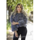FAKE FUR 5 RINGS JACKET - SILVER FOX