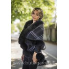 PONCHO REAL FOX FUR - MODEL 5