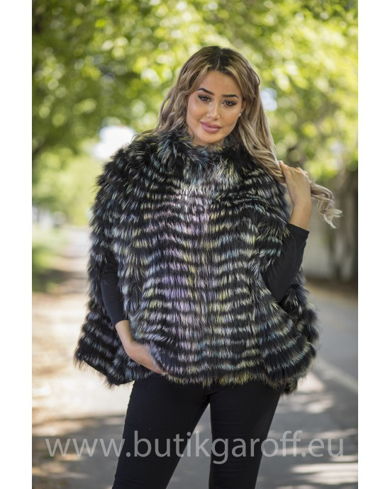PONCHO REAL FOX FUR - MODEL 6