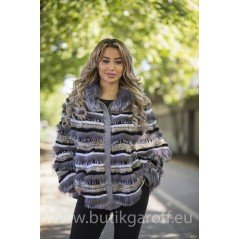 PONCHO REAL FOX FUR - MODEL 1