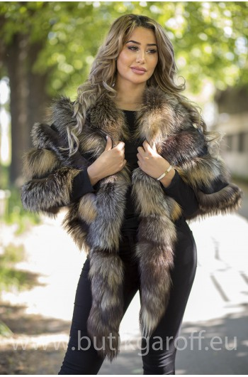 PONCHO REAL FOX FUR - MODEL 10