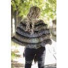 PONCHO REAL FOX FUR - MODEL 9