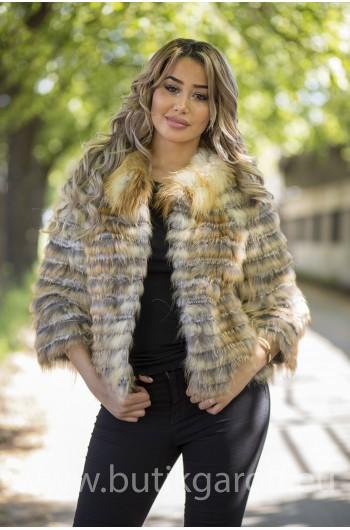 Gold Fox real fur jacket