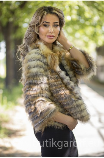 Gold Fox real fur jacket