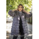 Real Fur Jacket 4 in 1 - LIGHT GREY