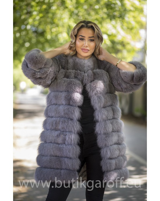 Real Fur Jacket 4 in 1 - LIGHT GREY