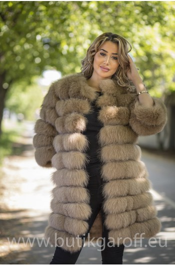 Real Fur Jacket 4 in 1 - CHAMPAIGNE