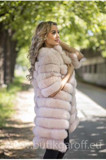 Real Fur Jacket 4 in 1 - LIGHT PINK