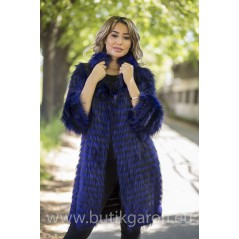 Real Fox fur coat - BLUE