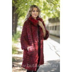 Real Fox fur coat - RED