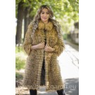 Real Fox fur coat - GOLD