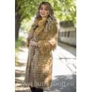 Real Fox fur coat - GOLD