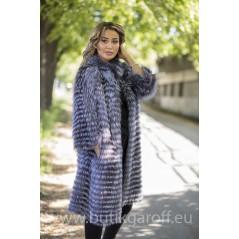 Real Fox fur coat - GREY