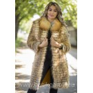 Real Fox fur coat - GOLD model 2
