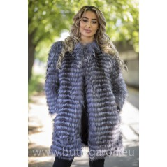 Real Fox fur coat - GREY model 2