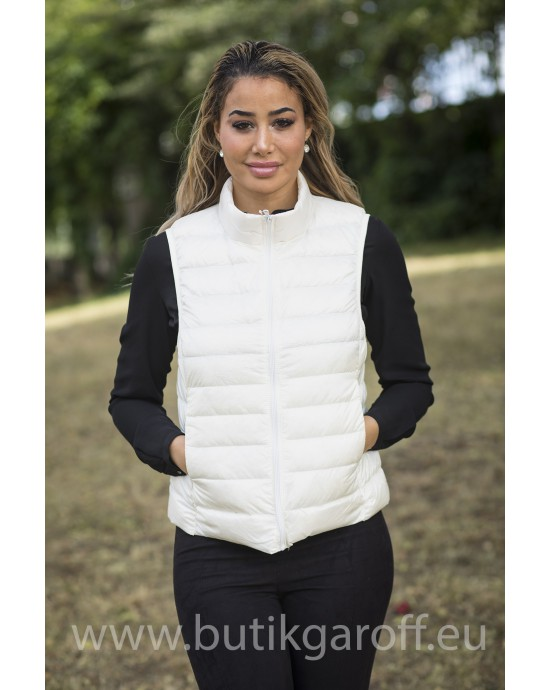 REAL DOWN VEST - WHITE