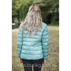 REAL DOWN JACKET- TURQUOISE 100%