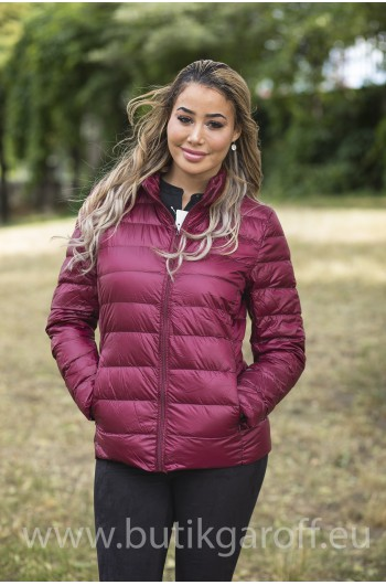 REAL DOWN JACKET- BURGUND 100%