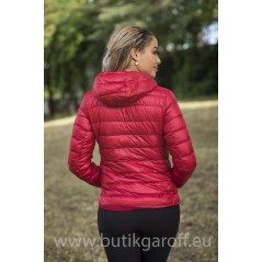 REAL DOWN JACKET WITH HOODIE- RED 100%