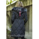 QUILTED WINTER JACKET - BLACK