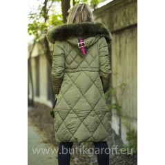 QUILTED WINTER JACKET - KHAKI