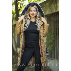QUILTED WINTER JACKET - COPPER COLOR