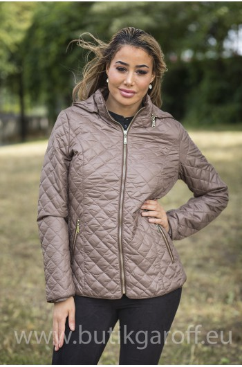 QUILTED AUTUMN WINTER JACKET - BLACK