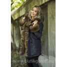 MINK CAMO PARKA WITH REAL FOX FUR - SOBOL COLOR
